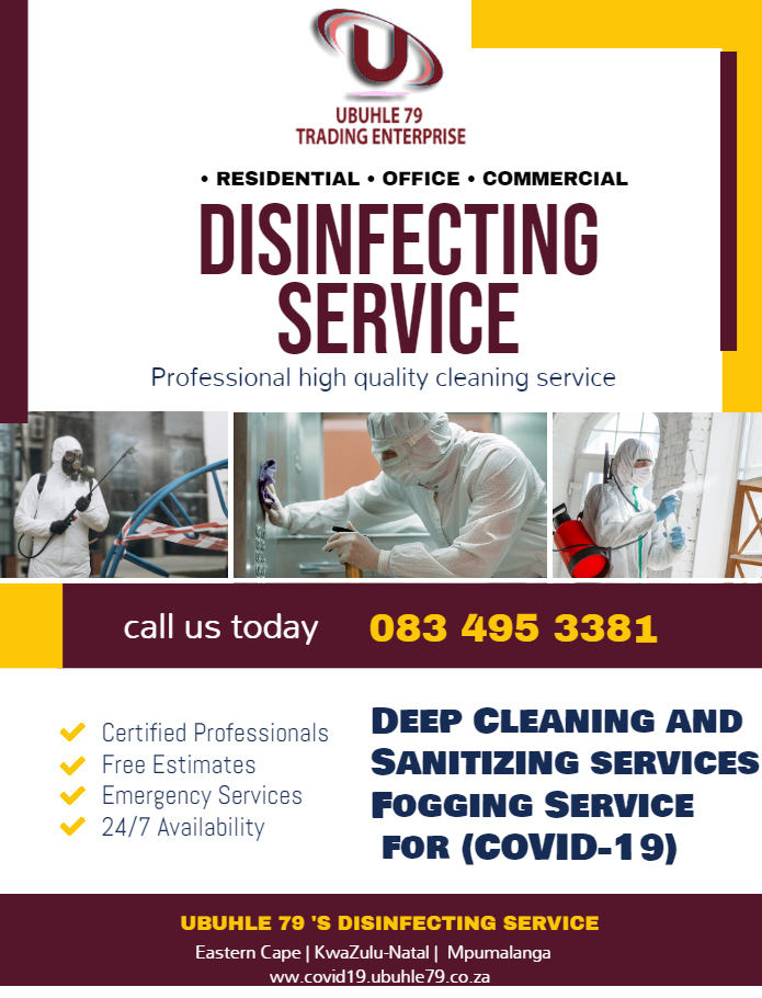 Disinfecting Cleaning Service Poster